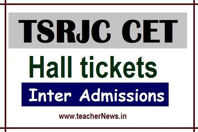 TSRJC 2020 Hall Tickets Download - TS Residential Inter Admission Hall ticket 2020