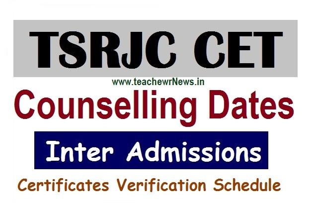 TSRJC Inter Counselling Dates 2020 - Telangana Gurukul inter MPC BiPC Certificates Verification Schedule