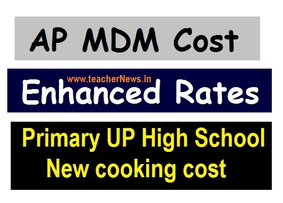 AP MDM Enhanced Rates from 1st April 2020 Primary UP High School New cooking cost