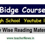 High School Bridge Course Youtube link - Day Wise Reading Material