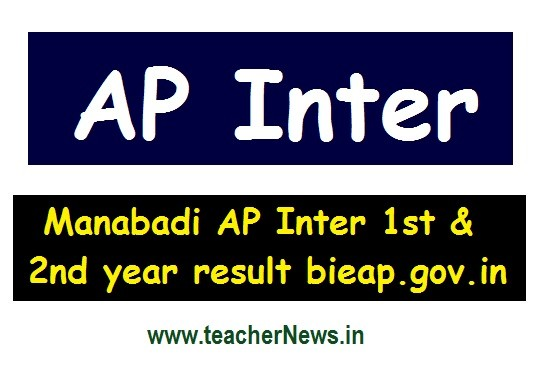Manabadi AP Inter Results 2020 AP Inter 1st & 2nd year result on June 12 on bieap.gov.in
