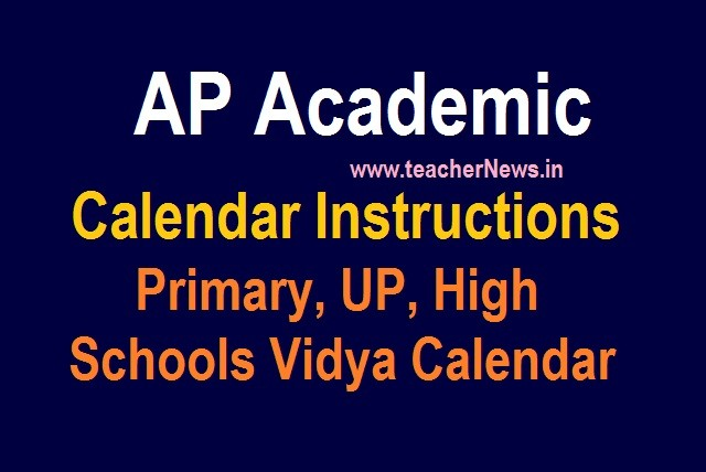 AP Academic Calendar 2020-21 Instructions to Primary UP Hish Schools