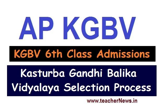 AP KGBV Admissions Apply Online 2020 Kasturba Gandhi Balika Vidyalaya Selection Process