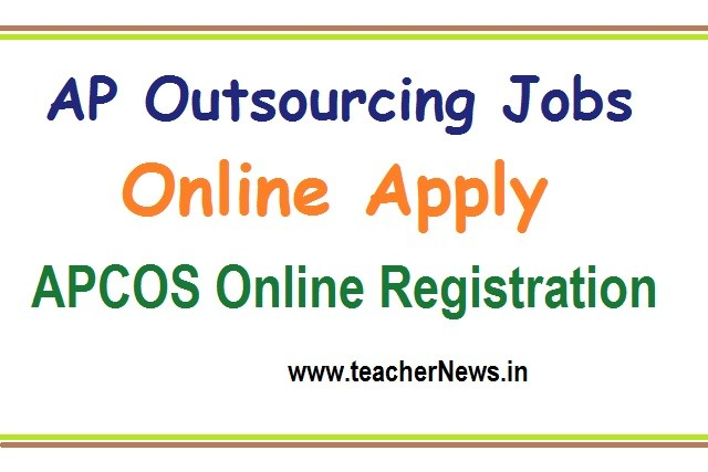 AP Outsourcing Jobs Online Apply 2020 APCOS Online Registration apcos.apcfss.in