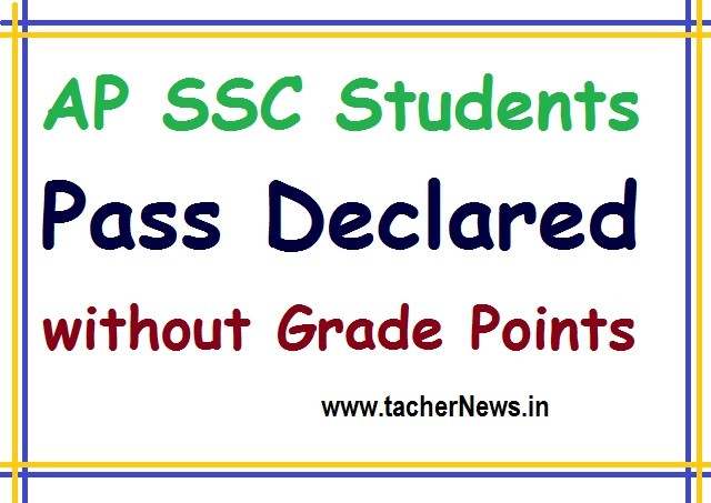 AP SSC Students Pass Declared in Public Exams without Grade Points for 2020 GO 34
