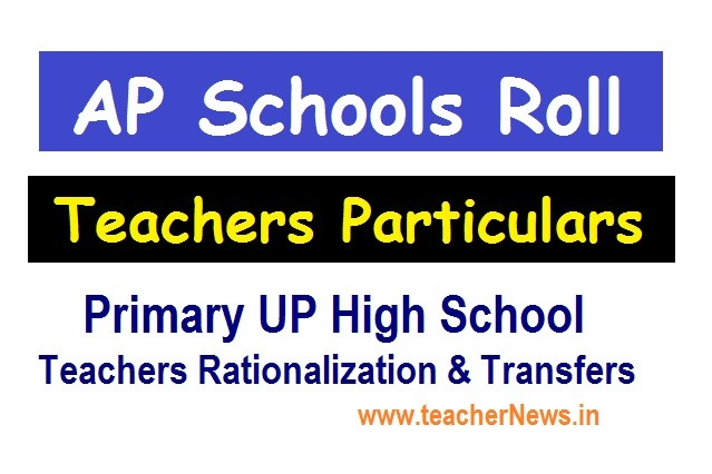AP School Roll Particulars in Primary UP High Schools for Teachers Transfers 2020