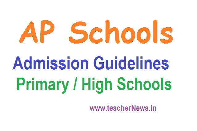 AP Schools Admission Guidelines for Academic Year 2020-21 for Primary / High Schools