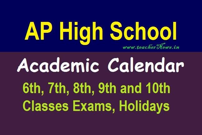AP Revised Academic Calendar 2020- 2021 For 10th & 9th Classes Ap