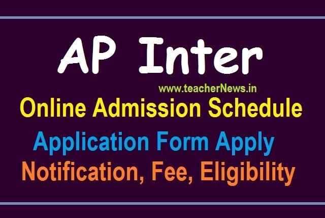 AP Inter Online Admission 2020 Online Apply Schedule