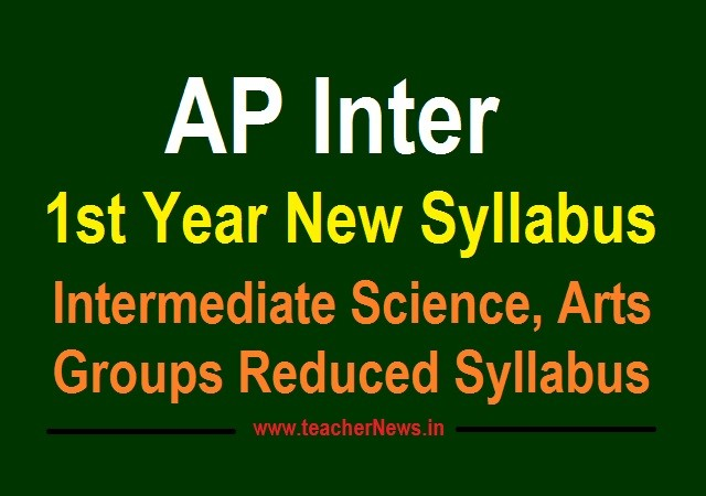 AP Inter Reduced Syllabus 2020 - 1st year Intermediate 30% New Syllabus