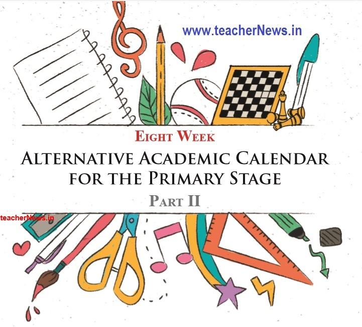 UP Schools Alternative Academic Calendar for 8 Weeks by NCERT in AP