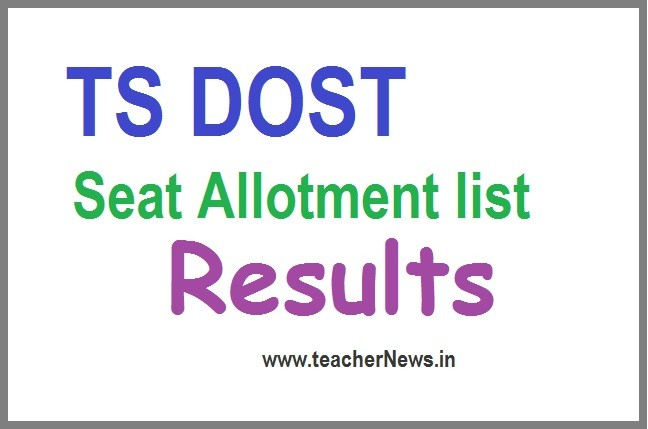 TS DOST Seat Allotment Result 2020 (Announced) - Telangana DOST Online Degree 1st phase selectIon list