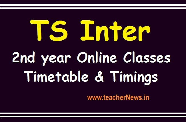 TS Inter Online Classes Timings & Timetable 2020 - Telangana Inter 2nd year Digital Classes Subject wise Schedule