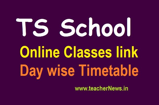 TS School Online Classes link & Time Table from 1st September 2020 - Digital, YouTube, TV, T-SAT App