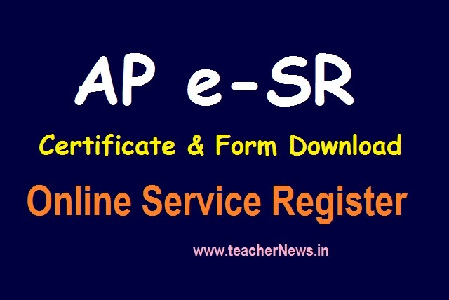 eSR Certificate Form Download pdf for Employees - PRC wise AAS Table, GIS Rates
