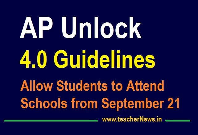 AP Unlock 4.0 Guidelines | Students to Attend Schools from September 21