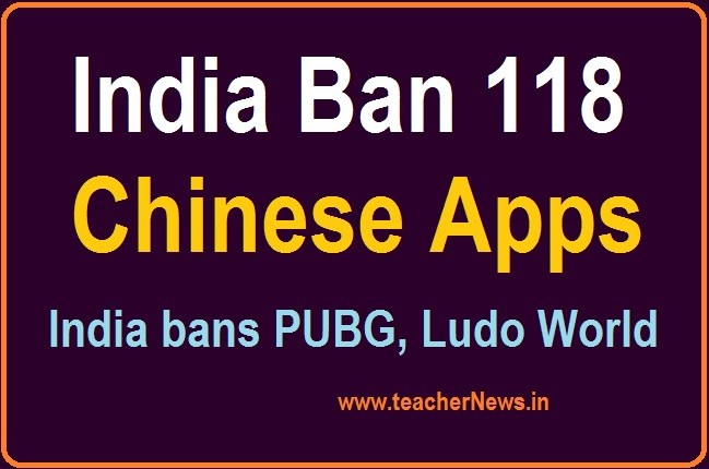 India 118 Chinese Apps Ban | PUBG India bans 118 more mobile applications