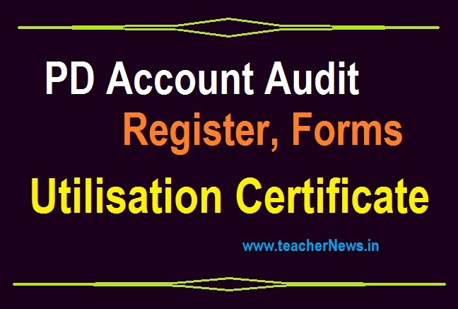 PD Account Audit Register , Forms in AP Schools 2019-2020 | Maintained Registers download