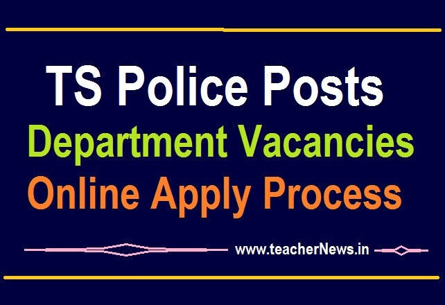 TS Police Recruitment Vacancies 2020 - Special Police Officers Temporary Basis Online Apply