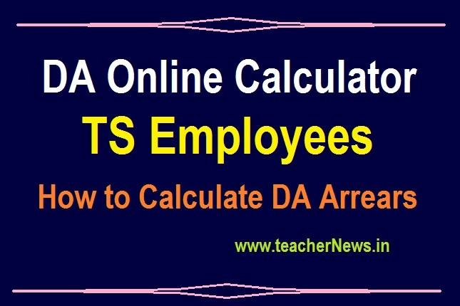TS DA Online Calculator 38.776% - Telangana Employees 38.776% DA Table from 1st July 2019
