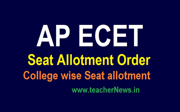AP ECET Seat Allotment Order 2021 APECET College wise Seat allotment released at sche.ap.gov.in/ECET