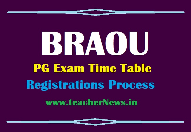 BRAOU PG Exams Time Table, Exam schedule & Registrations Process 2021