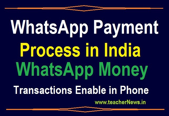 WhatsApp Payment Process - WhatsApp Money Transactions Enable in Phone