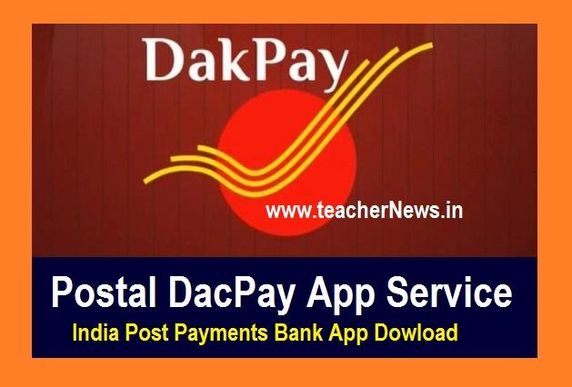 Postal DacPay App Service - India Post Payments Bank App Dowload