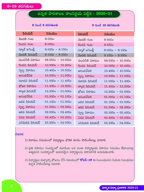 AP High School New Time table