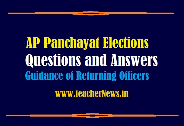 AP Panchayat Elections Questions and Answers 2021 For Guidance of Returning Officers
