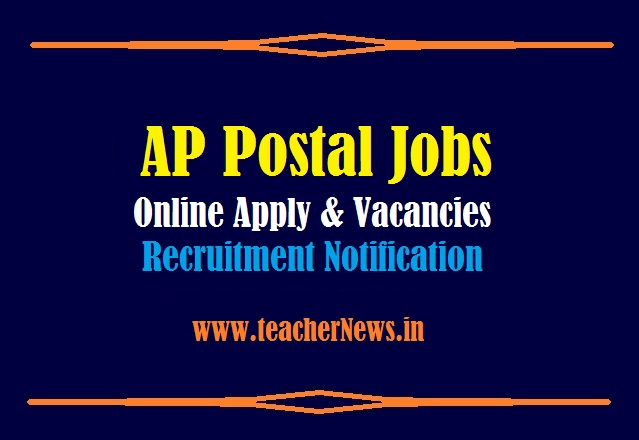 AP Postal Jobs Online Apply 2021 GDS Notification for 2296 Vacancies