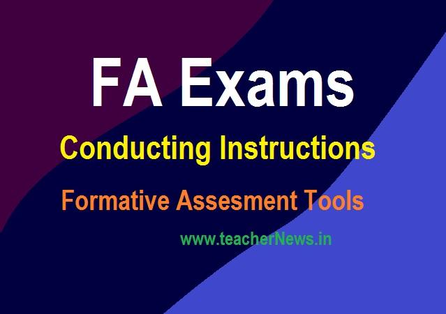 FA Exams Conducting Instructions 2021 - Formative Assesment Tools (FA 1, FA 2)