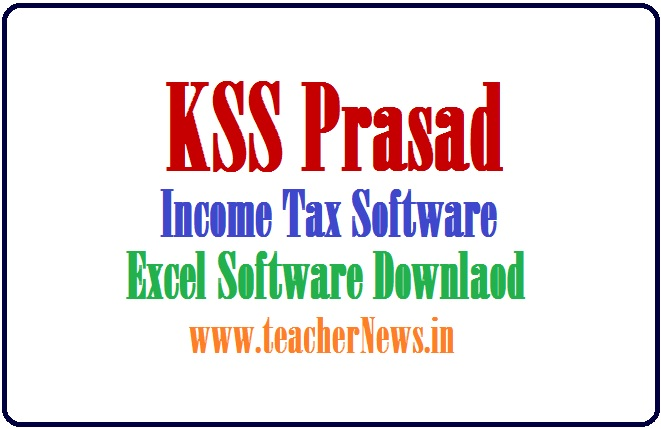 KSS Prasad IT Software FY 2020-21 for AP TS Teachers and Employees (Income Tax)
