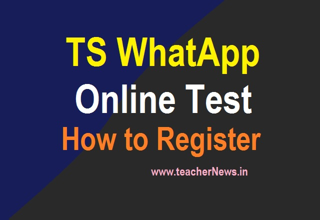 TS WhatApp Online Test in Telangana for English and Maths 2021