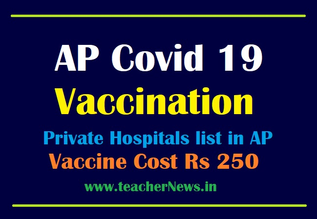 AP Covid Vaccine Private Hospitals list | Vaccination Cost Rs 250