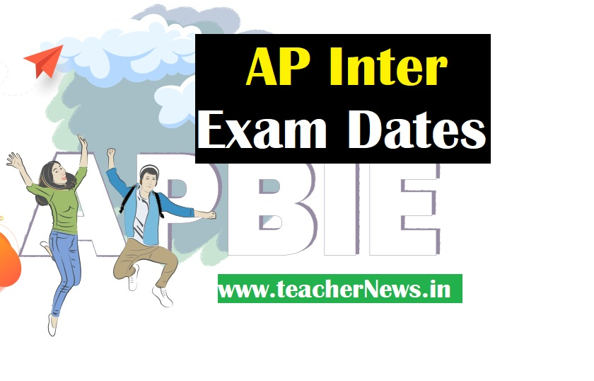 AP Inter Exam Dates 2021 - Time Table for First and Second year Inter Examinations