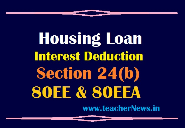 Housing loan Interest Tax Deduction Clarification in Telugu for Section 24, 80EE & 80EEA