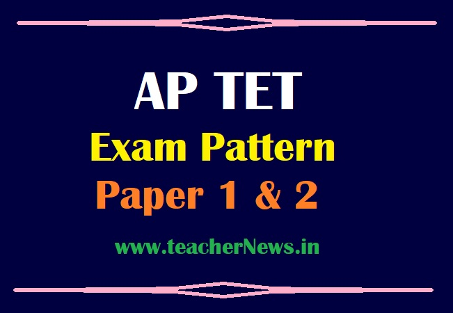 AP TET Exam Pattern 2021 of Paper 1 & 2 - Structure of APTET 2021 Paper A & B Pass Marks