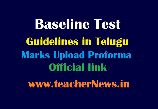 Baseline Assessment Test Guidelines for 3 rd to 9th Class 2021 - Marks Upload Proforma & Official link