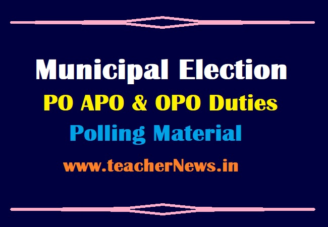 Municipal Election PO Duties 2021 APO OPO Duties and Material Download