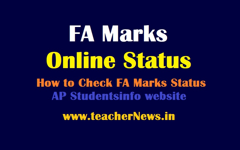 FA Marks Online Status 2021 - How to Check School wsie CCE Marks Updation Status For All Classes