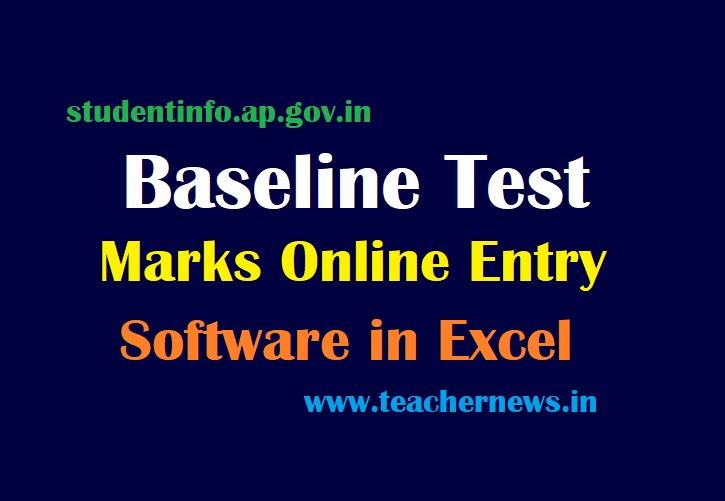 Baseline Test Marks Entry Software in Excel Format 2021-22 Marks Online Upload Proforma pdf