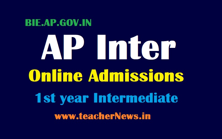 AP Inter Online Admissions 2021 Andra Pradesh Intermediate 1st year Admission Online Apply Dates