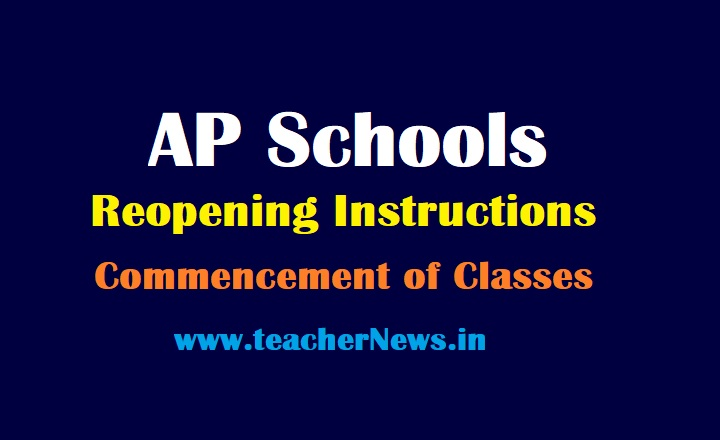 August 16th Schools Reopening in AP - Commencement of Classes to students Guidelines