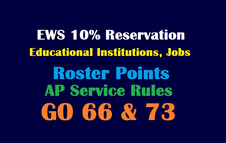 EWS 10% Reservation in AP Educational Institutions & Jobs - Roster Points for Economically Weaker Sections