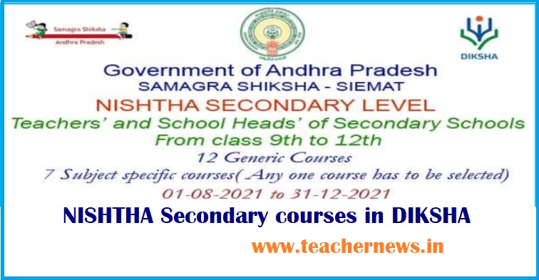 Nishtha Online Training Enroll link in Diksha App - Secondary School Teachers Diksha Training Join
