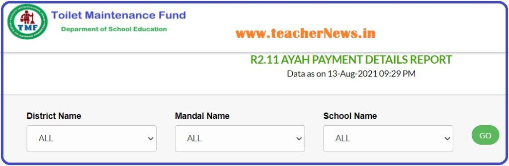 Sanitary Ayah Amount Status for AP Schools at jaganannagorumudda.ap.gov.in