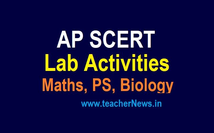 AP SCERT Lab Activities For Maths, PS, Biology For AP Schools - 10th, 9th, 8th, 7th, 6th Lab Activities