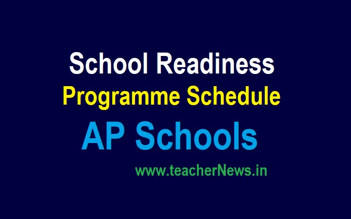 AP School Readiness Programme Schedule from 1st Sep to 8th Oct 2021 - 6 Weeks (42 Days)