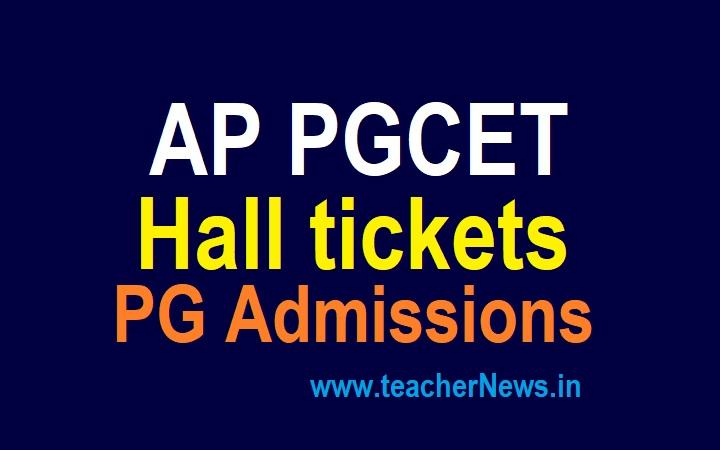 APPGCET Hall tickets 2021 AP PGCET Subject wise Admit Card & Exam Date